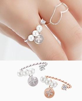 1045600 - <RI690_JE25> [KBS完美的妻子赞助商] [银色]劳伦珍珠环