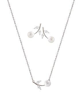 1044529 - <JS204_BD06> [项链+耳环] [银色]艾米利亚集