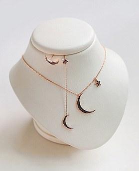 1045252 - <JS238_IF01> [项链+耳环]糖果月亮星星集