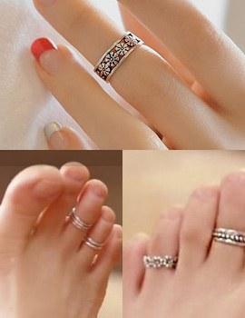 237284 - <RI310-AH11> - 这没关系,爱,它是JiHaesu] [银色] Haesoo脚趾环