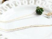 10368 - <NE198-BB07> [银色]苗条链条项链[40厘米,50厘米链条仅售!]