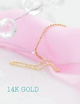 230091 - <K14J020-GH16> [指关节推荐] [14K金]球链条环