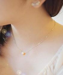 231741 - <K14J016-GH18> [女神songjihye婚姻] [14K金]珍珠水晶项链