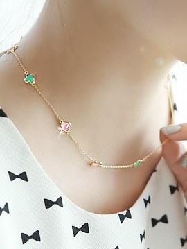 894600 - <NE196-IG13>柔和花项链