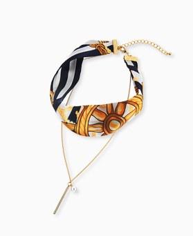 1045191 - <NE374_BA11>杠杆围巾短项链项链