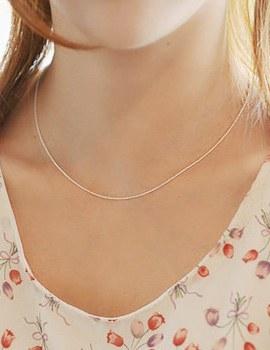 228304 - <SL358-BE08> [银色]温和的香肠链条项链
