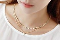 229060 - <NE039-BE05> Vanilla珍珠项链