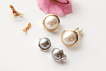 229351 - <PC081-S> [立即缺货] [夹表达]卷圆珍珠耳环环
