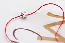 10817 - <BC200-S> [当天发货] [ripply玫瑰小姐] [银色]丝绸链圆圆立方体镯子
