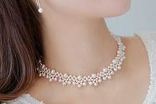 230293 - <NE052-BC16>喜欢Hepburn短项链珍珠项链