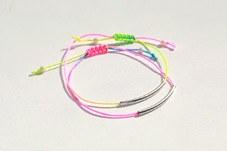 230727 - <SL025-S> [卖出迫在眉睫] [银色] Shoji坑霓虹管镯子
