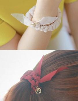 233479 - <HA011-EC05> [发带镯子兼用]纱纱纱马尾巴&镯子