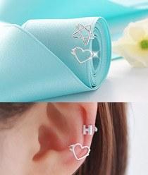 236391 - <SL434-BD07> [银色]明星&爱心线耳朵全耳式