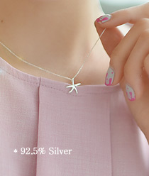 237117 - <SL448-S> [缺货] [银色] starfish项链