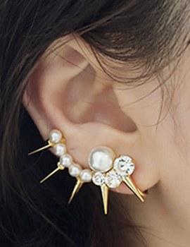 237946 - <EC105-CE05> [夹式] [可能左右]柳钉&珍珠耳朵全耳式