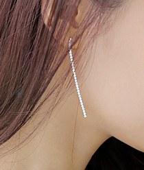 238013 - <ER611-S> [迫在眉睫] [银]时刻耳环环