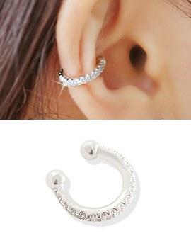 238279 - <EC111-BD06> [银色]一线立方耳朵全耳式