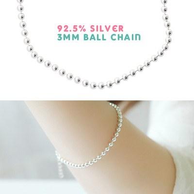 1043506 - <BC393-IF11> [银色] 3毫米球镯子