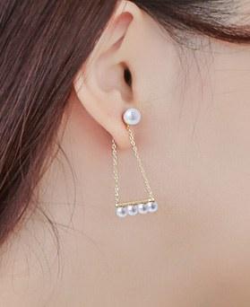 1043548 - <ER773-DG10> [那爱你小时哦,哈娜] [银针]女子珍珠耳环诺基亚