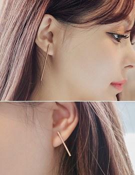 1043575 - <ER780-DB11> [银针]长简单耳耳环环