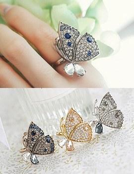 1043744 - <RI470-JA16>迷人的蝴蝶环
