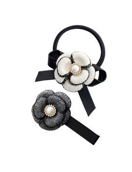1043956 - <HA425_FD09> Virgin Flower发夹和马尾巴