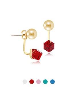 1044133 - <ER932_S> [售完迫在眉睫] [银针]糖环水晶石英双边耳环