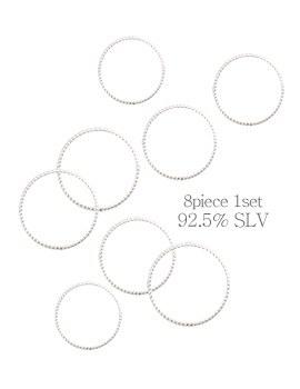 1044152 - <RI529_JC07> [8个1集] [银色]明确简单环