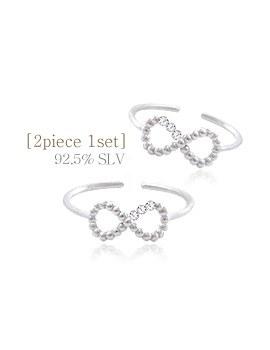 1044186 - <RI533_JF10> [2个1集] [银色]蝴蝶线线环环