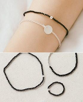 1044288 - <JS193_HE12> [镯子+脚镯+环] [银色] Shimabara是球伞Ann的集合