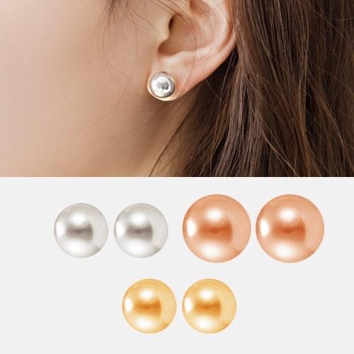1044371 - <ER990_GZ01> [银针]柔丝球耳环
