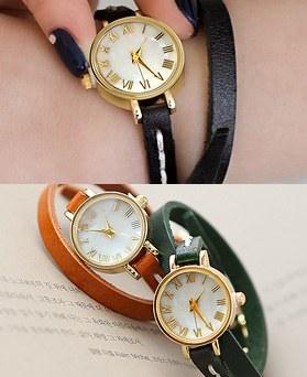 1044376 - <WC102_S> [当天发货] Ann双人皮革手表