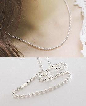 1044451 - <NE311_IB01> [当天发货] [银] 2mm Sharon灯泡项链