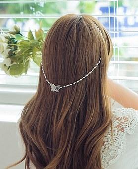 1044799 - <HA490_EF07>珍珠蝴蝶背坡发带