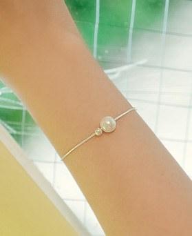 1044885 - <BC624_BD08> [银色]珍珠减肥镯子