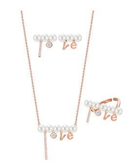 1044929 - <JS228_IF08> [项链+耳环+环]幸福珍珠集