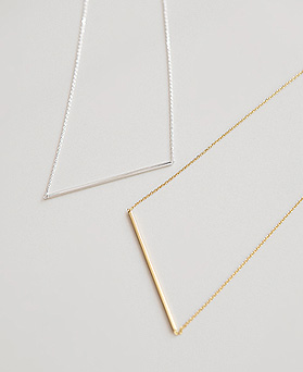 1045027 - <NE359_BD08> [银色]织り棒项链