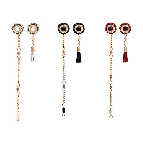 1045054 - <ER1158_GB06~10> [当天发货] [手工艺生产]红润平平耳环