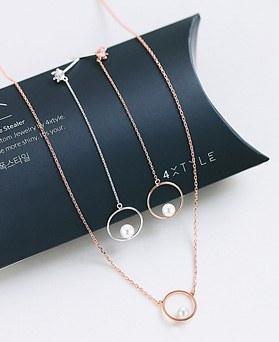 1045468 - <JS240_IH17> [耳环+项链] [银色]