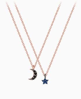 1045611 - <NE416_BC03> [银色]迷你明星Ann月亮项链