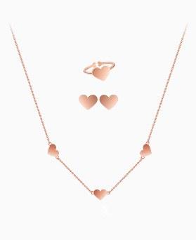 1045646 - <JS248_IG16> [项链+耳环+环] [银色]爱爱心集