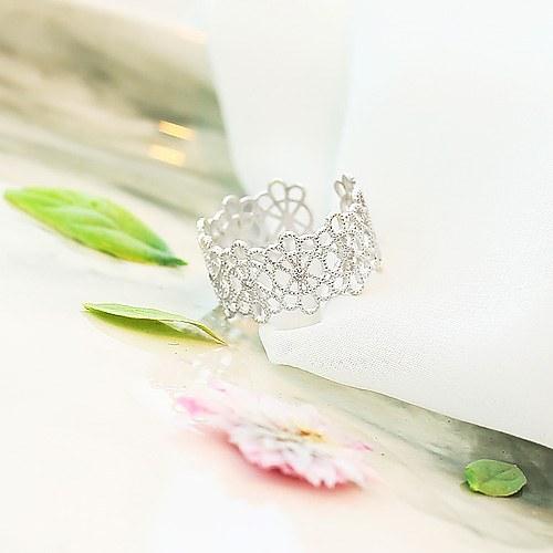 1045672 - <RI706_AA01> [银色]蕾丝花环