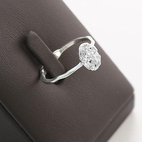 1045801 - <RI724_JD25> [银色]闪耀椭圆形状的戒指