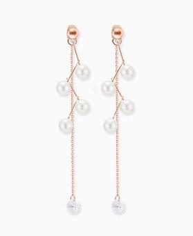 1045859 - <ER1375_CF08> [银针]蜂蜜串珠珍珠项链