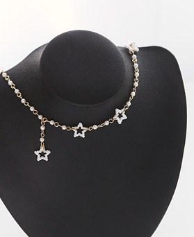 1045865 - <NE428_IG033>领珍珠短项链项链