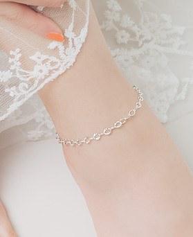 1045879 - <SL458-BD00> [银色]切割链腿镯
