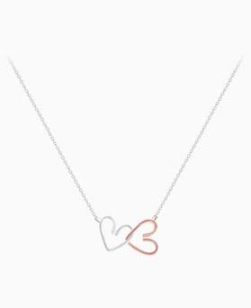 1045941 - <SL490-BD00> [银色]双线爱心项链