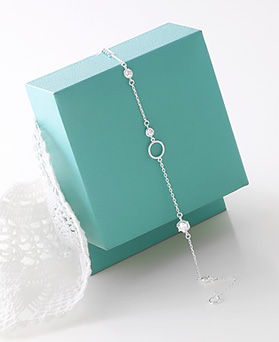 1045970 - <SL479-BD00> [银色] Kalia cube镯子