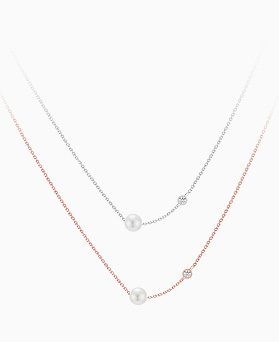 1046084 - <SL489-BD00> [银色]クリシン珍珠项链