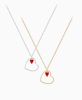 1046139 - <NE438_BF05> [当天发货]红色爱心项链